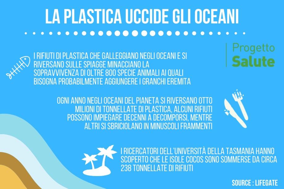 La plastica ha ucciso oltre mezzo milione di granchi eremita